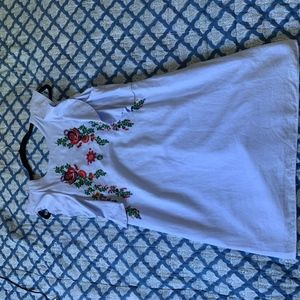 Zara Embroidered Dress (with pockets!!)